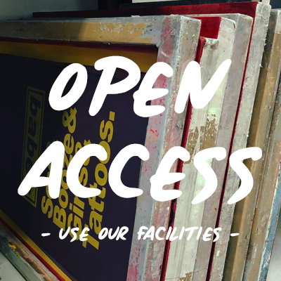 Open access screen print studio | Silk screen studio UK | Screen printing equipment | Screen print membership studio