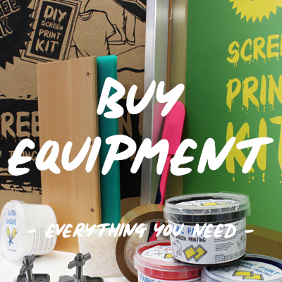Screen printing equipment | Squeegee and ink | Print at home | Screen print at home
