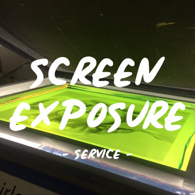 Pre-exposed screens | Screen printing exposure service | How to expose screens for screen printing | Silk screen exposure UK