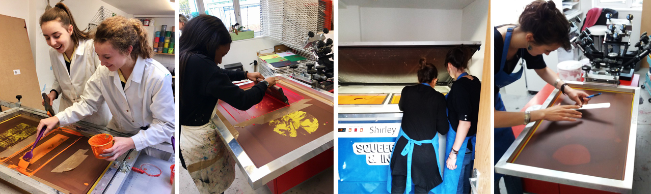Screen printing for schools