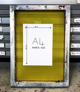 A4 Screen printing frame
