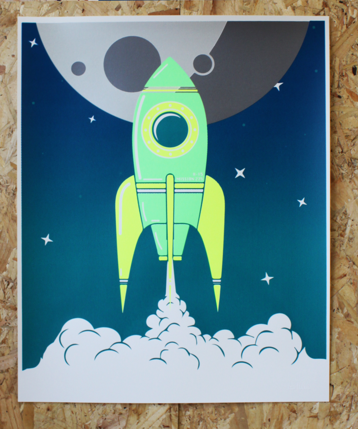 ROCKET SCREEN PRINT | GREEN