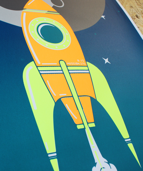 ROCKET SCREEN PRINT | ORANGE