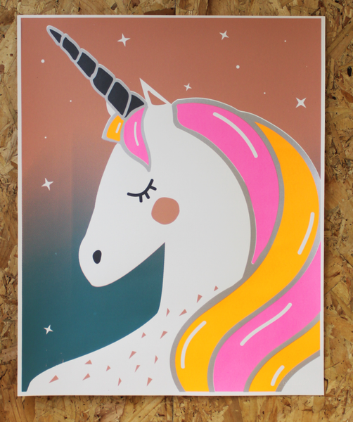 UNICORN SCREEN PRINT | ORANGE