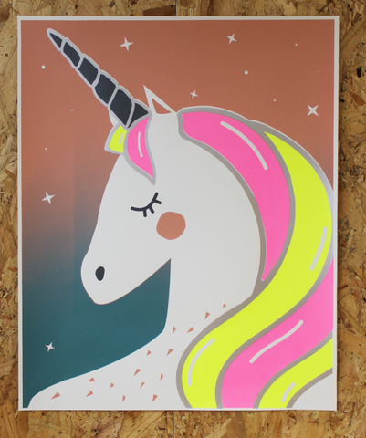 UNICORN SCREEN PRINT | YELLOW