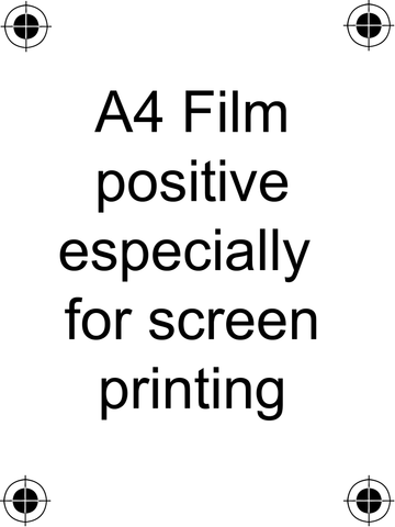 A4 Film Positive Acetate