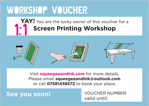 1 to 1 screen printing workshop | COMMERCIAL