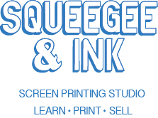 Squeegee and Ink | Screen Print | Screen Printing Workshop | Screen Printing Class | Open Access Studio | Film Positives | Pre Exposed Screens