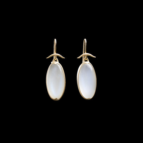 18K Bella Luna Moonstone Earrings