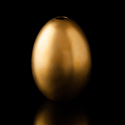Gold Plated & Sterling Silver Egg Vase