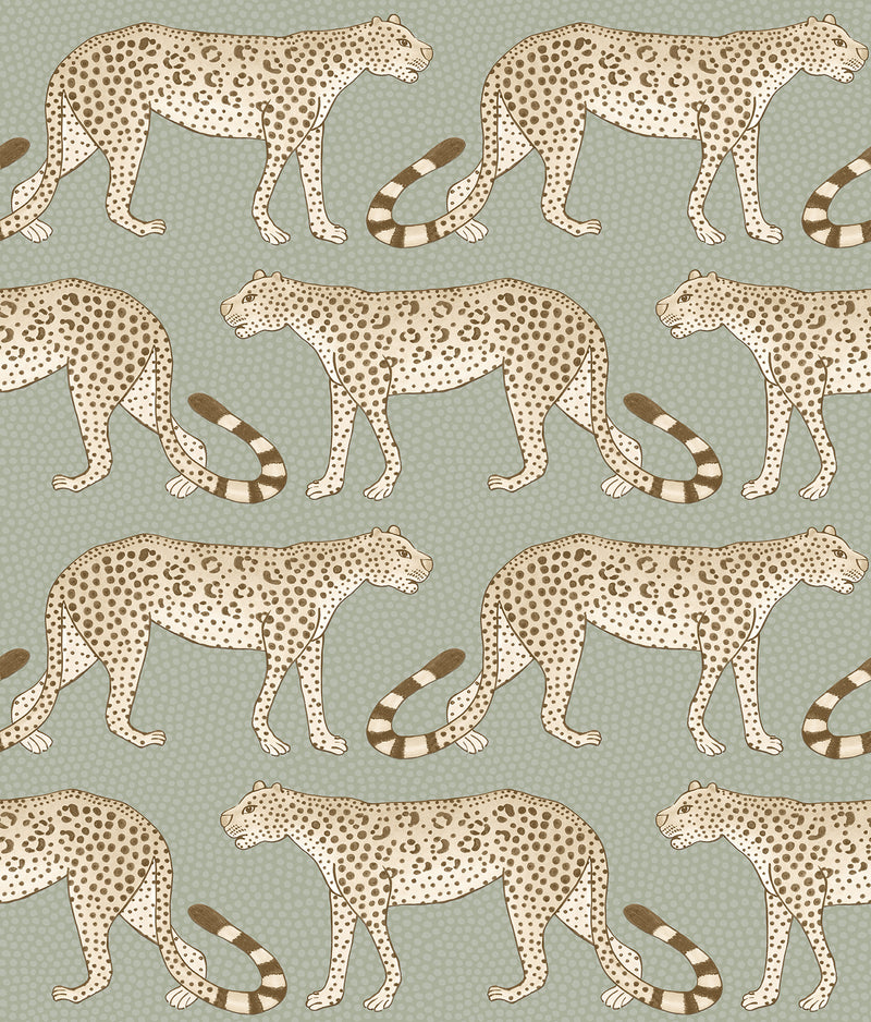 Cole & Son - The Ardmore Collection - Leopard Walk 109/2009 Olive + white