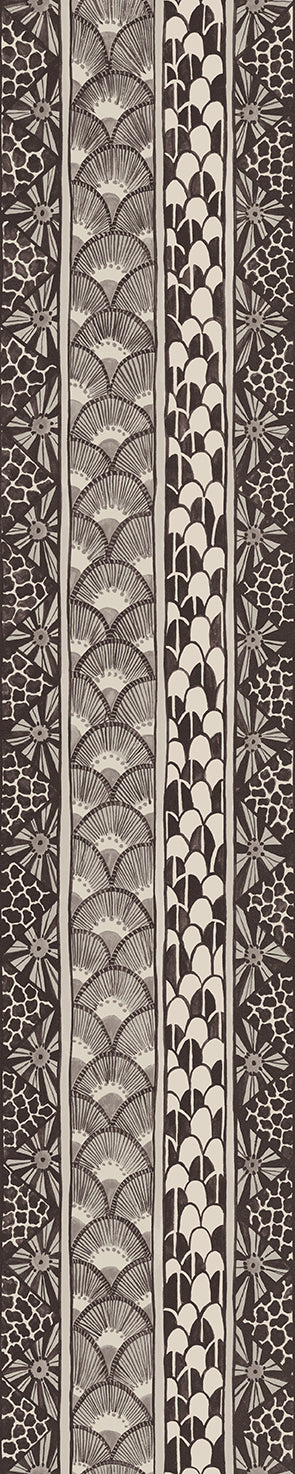 Cole & Son - The Ardmore Collection - Ardmore Border 109/5025	Black + White
