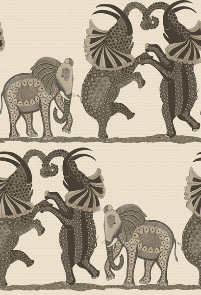Cole & Son - The Ardmore Collection - Safari Dance 109/8036 Neutral + Charcoal
