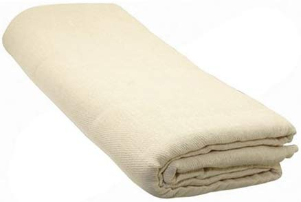 Cotton Twill Polyethylene-Backed Dust Sheet 12ft x 9ft
