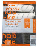 "Harris Twin 9"" Medium Pile Roller Set with 2 Sleeves"