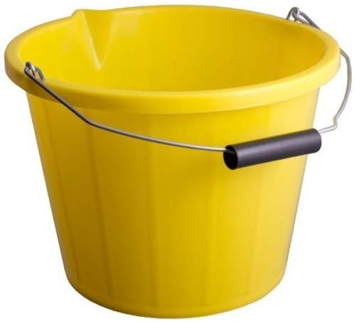 Yellow - Builders Bucket Plastic 3 Gallon 14 Litre