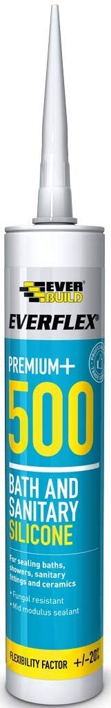 295ml Everflex 500 Bath & Sanitary Silicone - 295ml - Ivory