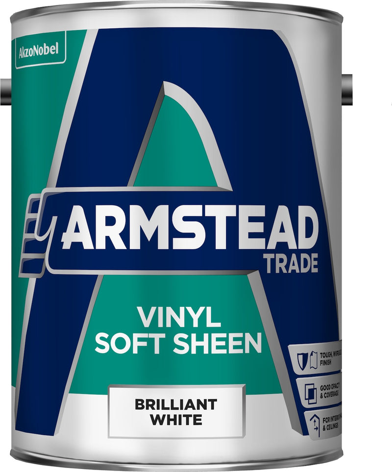 Armstead Trade Vinyl Soft Sheen Brilliant White 5L