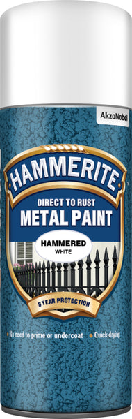 Hammerite Direct to Rust Metal Paint Aerosol Hammered Finish 400ML (All Colours)