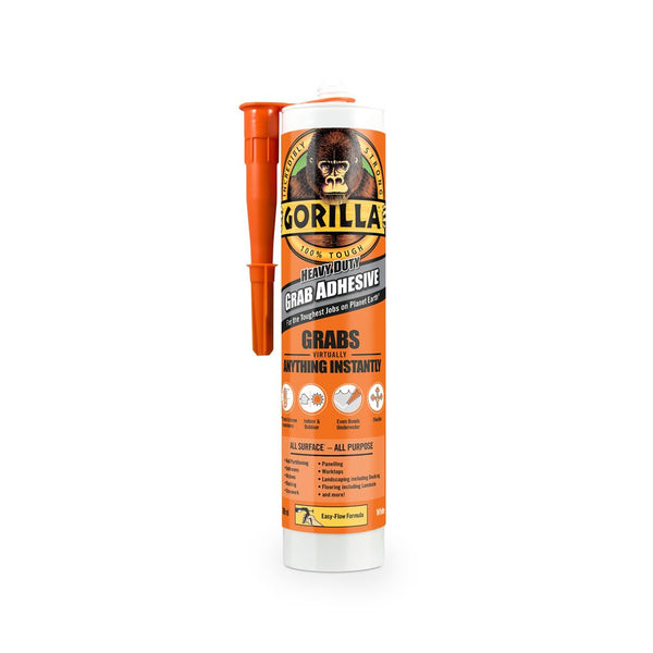 GORILLA GLUE 290 ML Grab Adhesive White Withstands Extreme Temperatures and Works Underwater