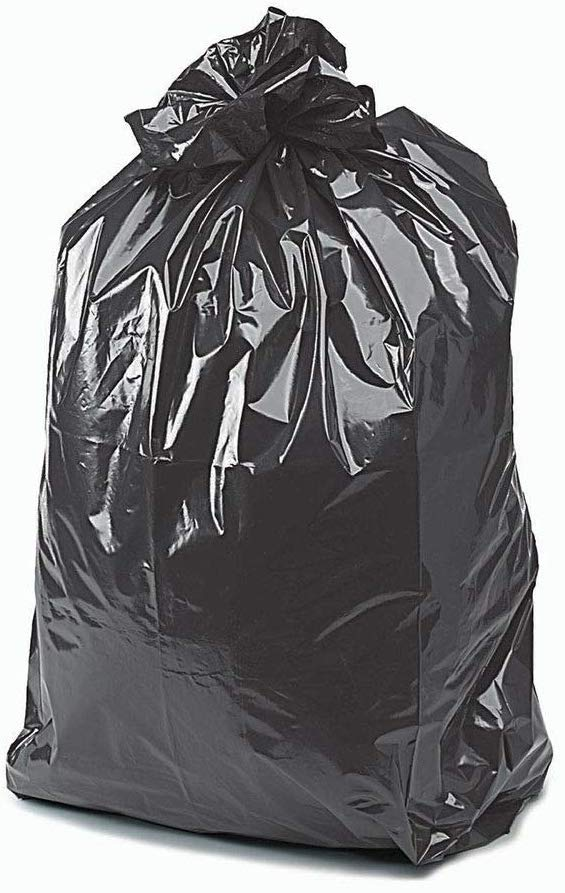 Heavy Duty Black Bin Bags Dustbin Rubbish Liner (Pack of 200)