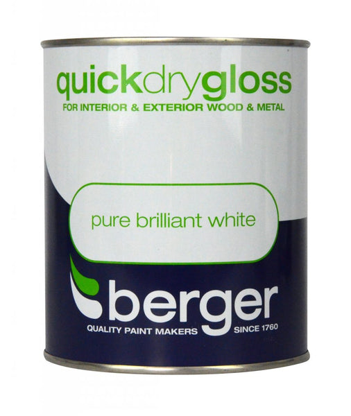 Berger Quick Dry Gloss Pure Brilliant White