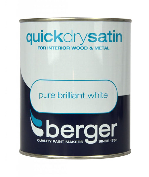 Berger Quick Dry Satin Pure Brilliant White