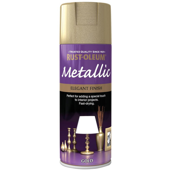 Rust-Oleum 400ml Metallic Spray Paint - Elegant Gold