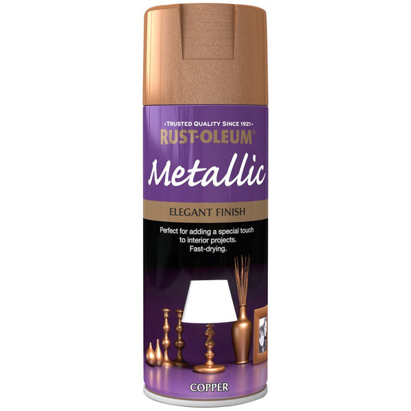 Rust-Oleum 400ml Metallic Spray Paint - Elegant Copper