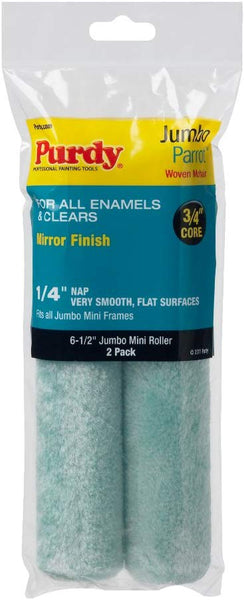 "Purdy Jumbo Mini Parrot Roller Replacement, 2-Pack, 4.5"" & 6.5"" x 1/4 inch nap"