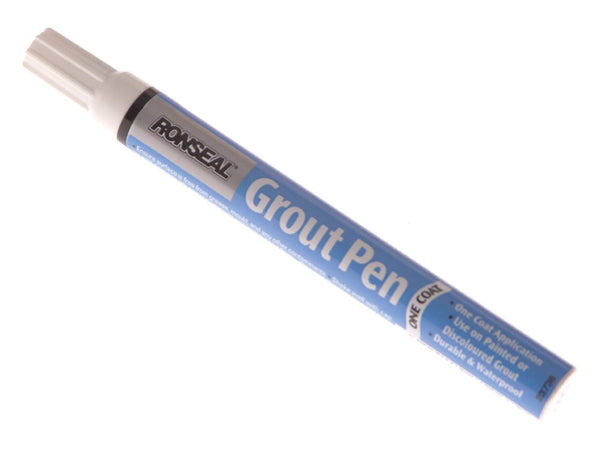 Ronseal One Coat Grout Pen & Spare Nibs - Brilliant White 7ml & 15ml