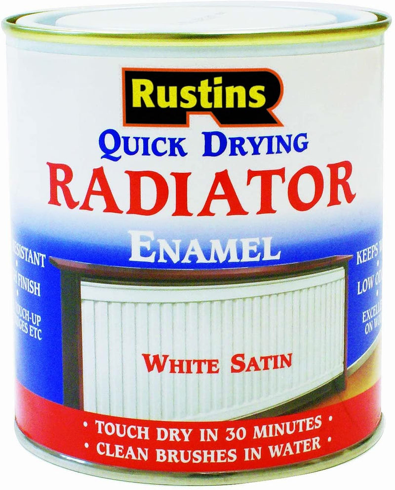 Rustins Quick Dry Radiator Paint Satin & Gloss 250ml/500ml/1L
