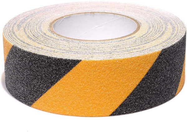 Safety Tape Yellow Black, Anti-Slip Safety Tapes Adhesive for Household Outdoor Steps Stairs Floors Walls Or Indoor High Traction Warning Tape