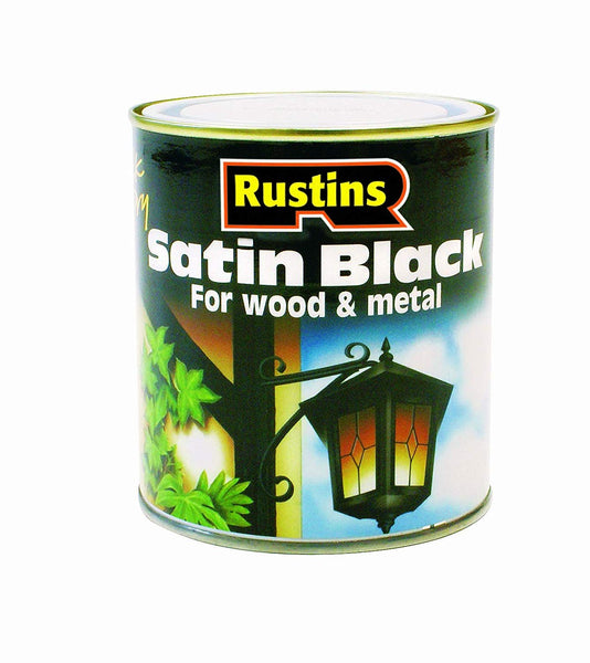 Rustins Satin Black for Wood & Metal
