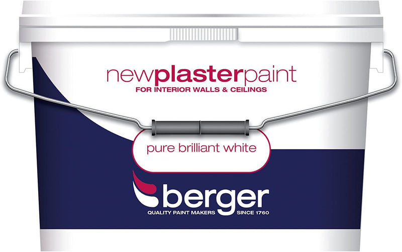 Berger New Plaster Paint Matt Pure Brilliant White 10L