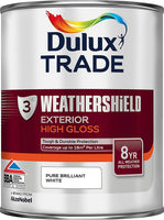 Dulux Trade Weathershield Exterior High Gloss Pure Brilliant White & Black