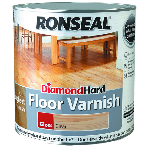 Ronseal Diamond Hard Floor Varnish Clear Gloss (All Sizes)