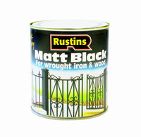 Rustins Wood & Metal Matt Black