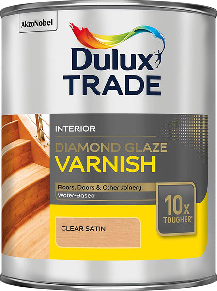 Dulux Trade Diamond Glaze Clear Gloss/Satin 1L/2.5L/5L