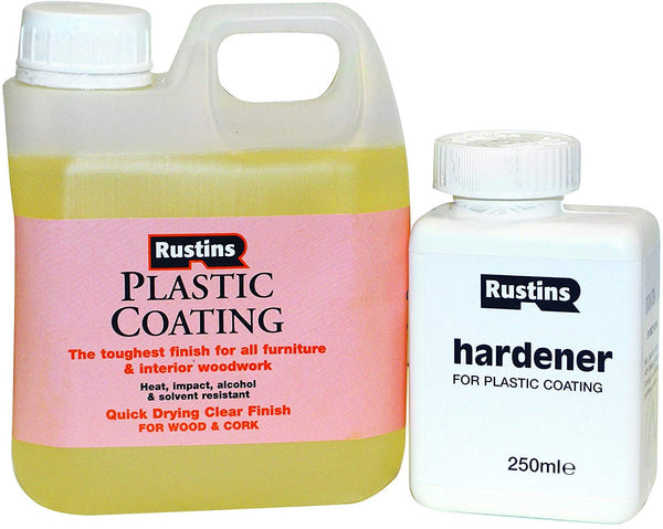 Rustins PCGL1000 Plastic Coating and Hardener Gloss 1L