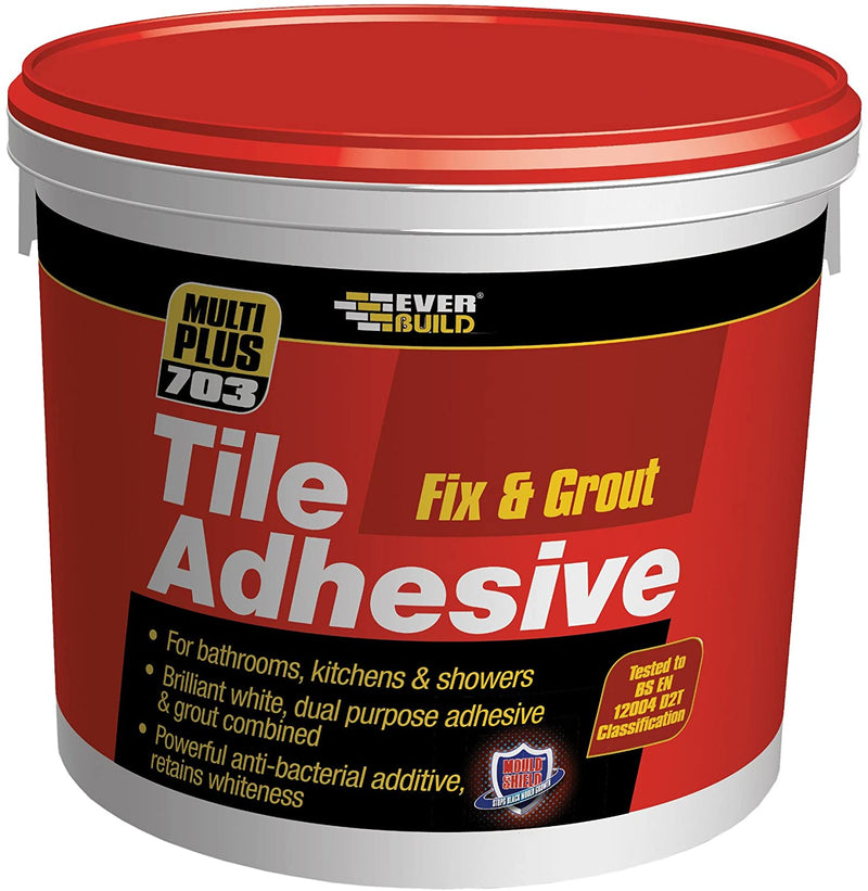 Everbuild 703 Fix & Grout Tile Adhesive 3.75kg