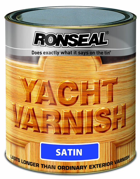 Ronseal Exterior Yacht Varnish Satin (All Sizes)