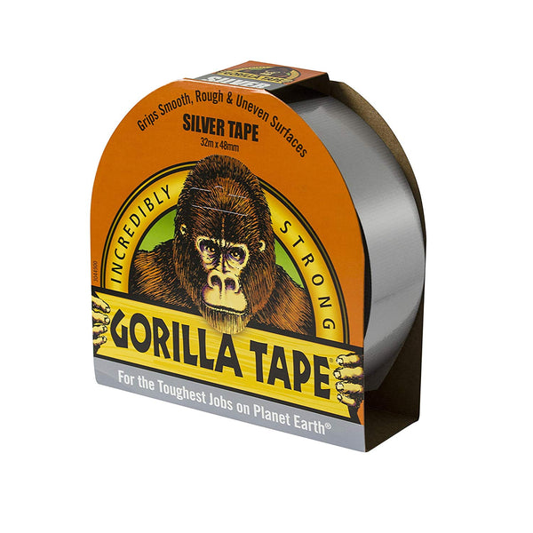 GORILLA 32 m Tape for Uneven Surfaces - Silver