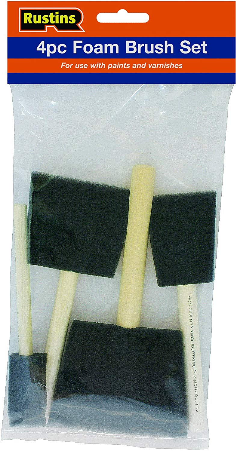 Rustins Foam Brush Set