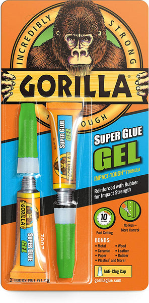 Gorilla Glue 2 x 3G Super Glue Gel - White