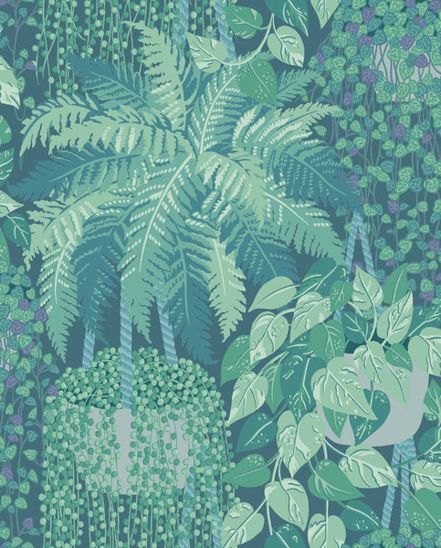Cole & Son - Botanical - Fern 115/7022 Viridian & Teal