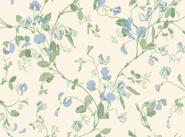 Cole & Son - Archive Anthology - Sweet Pea 100/6031 blue