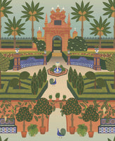 Cole & Son - Seville Collection - Alcazar Gardens 117/7020 Terracotta & Spring Green Multi