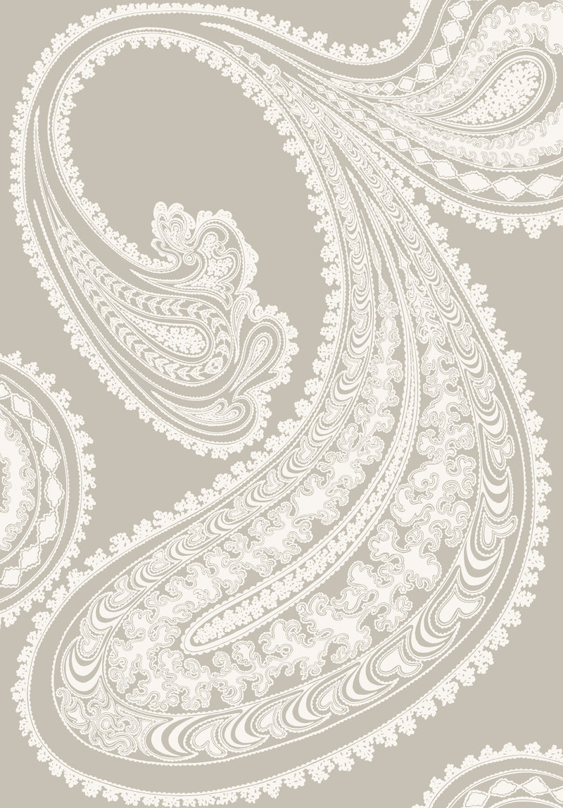Cole & Son - The Contemporary Collection - Rajapur 95/2011 Chalk on Taupe