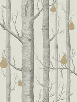 Cole & Son - The Contemporary Collection - Woods & Pears 95/5032 Soot & Gold on Stone